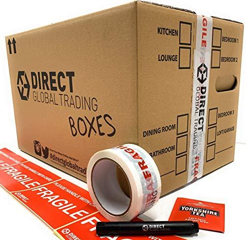 10 Kartons, Pappe, stabil, groß, doppelwandig) 47.75 cm x 32.51 cm x 26.42 cm