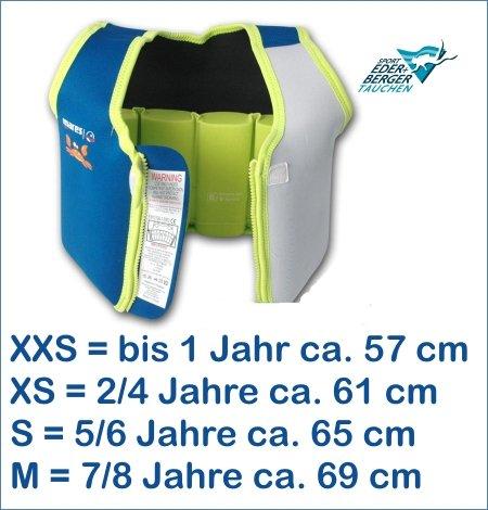 Mares Kinder Schwimmweste Schwimmhilfe Floating Jacket Kids (lime, XS - 2-4 Jahre (ca.11-18kg))