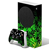 IT'S A SKIN Skins Compatible with Xbox Series S Console and Controller Vinyl Wrap - Protective Overlay Decal stickers skin cover - weed green bud marijuana leaves