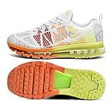 Zapatos para Correr en Montaña y Asfalto Aire Libre y Deportes Zapatillas de Running Padel para Hombre Mujer(EU 40,Blanco)
