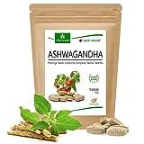 MoriVeda® - Ashwagandha compresse 1000 mg o capsule 600 mg - prodotto naturale puro in alta qualità - ciliegia invernale, ginseng indiano (1x120 compresse)