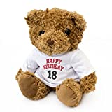 New - Happy Birthday 18 - Teddy Bear - Cute and Cuddly - 18th Gift Present