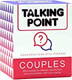 Talking Point Couples Card Games - 200 Thought Provoking Conversation Starter Cards for Strong Relationships. Fun Couples Games for Date Night, Couples Gifts, for Him & Her