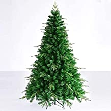 Christmas Tree Pre-Lit Green Fir Foldable Metal Stand Holiday Decoration Size: 6 Feet (180 cm)(Size:5Ft(150CM))