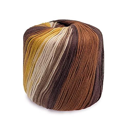 Vistoso Ovillos De Yarn Para Crochet Hilo De Algodon Crochet Ovillos De Algodon Para Ganchillo De Yarn Se Utilizan En Ropa De Punto, Sombreros, Calcetines, Bolsos, Juguetes, Etc. [133M, 46# Brown]