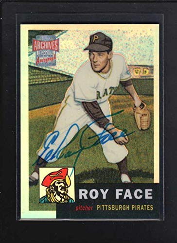 1997 Topps Archives #246 Elroy Face Authentic Autograph Signature Az3878 - Baseball Slabbed Autographed Cards