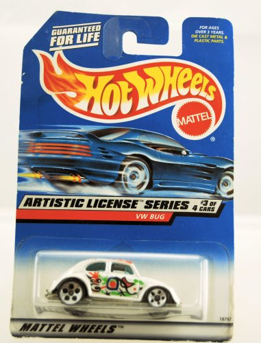 Hot Wheels 1997 Artistic License Series VW BUG 3/4 #731 1:64 Scale