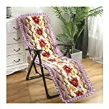 HEJINXL リクライニングチェアガーデンチェアカバータオルビーチプールアウトドアサンクッション厚い交換ガーデンリクライニングチェアリラクサーチェアクッション(椅子なし) ラウンジャークッション (Color : E, Size : 155x50cm)