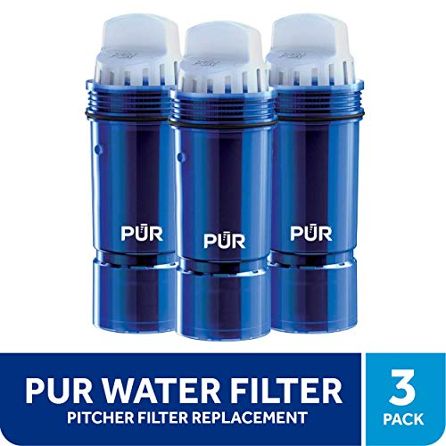 PUR Lead Reduction 3 Pack Water Filter Replacement Pack Pitchers and Dispensers, Blue