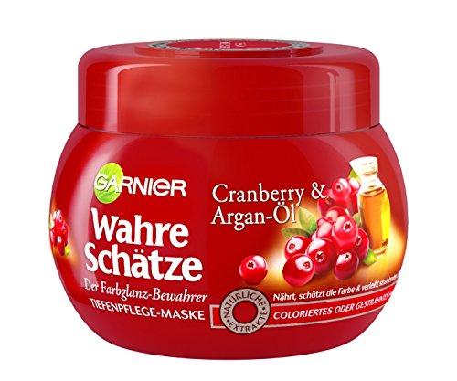 Garnier Wahre Schätze Haar-Maske, mit Argan-Öl & Cranberry Extrakt, 1er Pack (1 x 300 ml)