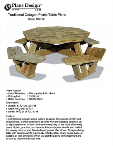 octagon picnic table - 2