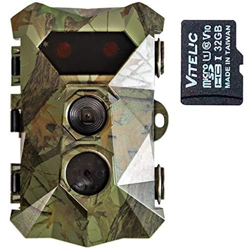 SORVAGENTM - Cámara de caza con visión nocturna - fotos de 16 MP y vídeo HD - Detector de movimiento para observación de animales - Cámara impermeable IP66 - Tarjeta SD de 32 GB