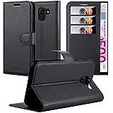 Cadorabo Funda Libro para Samsung Galaxy J6 2018 en Negro Fantasma - Cubierta Proteccíon con Cierre Magnético, Tarjetero y Función de Suporte - Etui Case Cover Carcasa