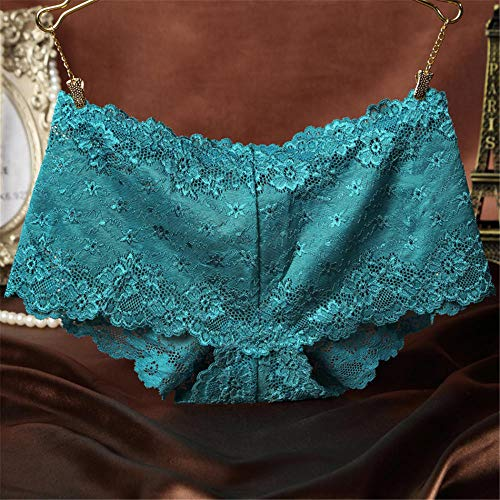 LTHH Sexy Slip mit Spitzenblumen für Damen, blau