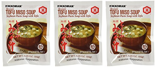 Kikkoman Instant Tofu Miso Soup (Soybean Paste Soup with Tofu) -(9 Pockets in 3 Packs) (3.15 Oz)