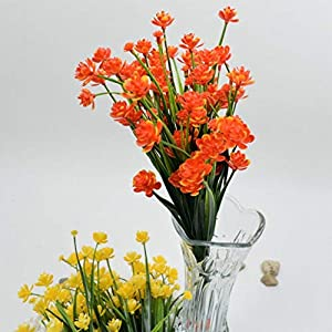 Artificial and Dried Flower 1 Pc Flower Faux Daffodils Shrubs Plants Wedding Home Decor Plastic – ( Color: Orange )