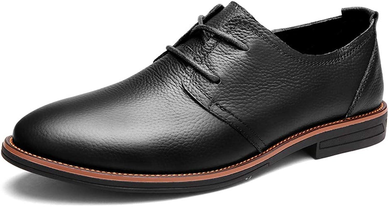 HILOTU Herren Oxford Kleid Kleid Kleid Schuhe Casual flache Schuhe Klassische einfache reine Farbe Low-top Formelle Business-Schuhe  27275a