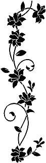 CDKJ Pegatina de Pared de Vid de Flor 105x30cm - Negro