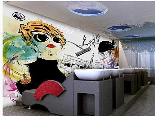 Europäische und amerikanische Mode Persönlichkeit Beauty Beauty Salon Friseur Hintergrund Wall-150Cmx105Cm