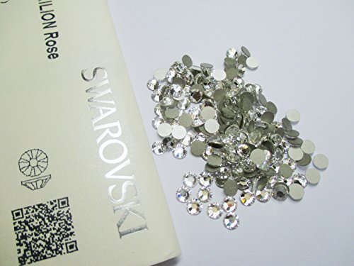 100 Clear SS16 SWAROVSKI 2058 Crystals - 4mm Glue Fix