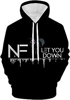 Men's If You Want Love NF 3D Digital Printing Hoodie Pullover Hooded Sweatshirt Hoody