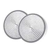 LEKEYE Shower Hair Catcher Drain Protector Strainer-Steel & Silicone 2...
