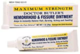 Doctor Butler's Hemorrhoid & Fissure Ointment - Hemorrhoid Treatment with Lidocaine, Aloe Vera, Amino Acids, Essential Oils & Minerals for Fast Acting Itch, Swelling, and Maximum Strength Pain Relief