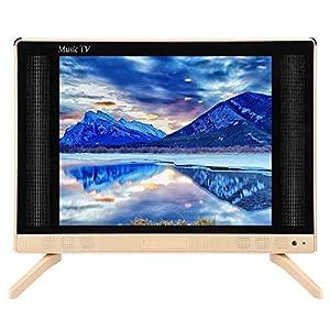 Mini Televisión, 17 pulgadas 1368x768 LCD HD televisor LCD portátil soporte HDMI, USB, VGA, AV TV digital Reproductor de televisión con sonido de graves para dormitorio, cocina, 110-240 V.(EU): Amazon.es: Electrónica