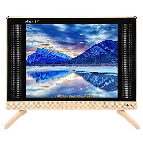 Televisor LCD de 22 Pulgadas, Televisor LCD de Alta definición de 22 Pulgadas Mini televisor portátil Sonido de Graves 110-240V, Televisor portátil con 1xHDMI, 1xUSB, 1xVGA(EU)