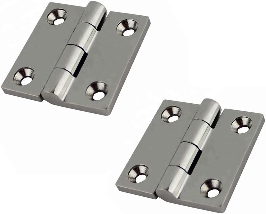 HaoYueDa 2PCS 316 Stainless Steel Butt Holes Hinge 38mm All items in the store 5 4 Max 56% OFF with