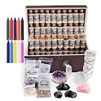 UnaLunaMoona Witchcraft Kit | Wiccan Supplies and Tools | Witch Kit | Witchcraft Crystals Witchcraft | Witchcraft Starter Kit | Witch Starter Pack | Herbalism Kit | Crystal Sets for Witchcraft
