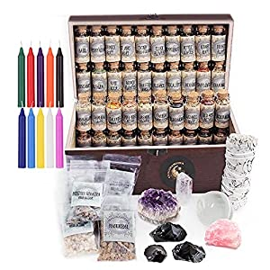 UnaLunaMoona Witchcraft Kit   Wiccan Supplies and Tools   Witch Kit   Witchcraft Crystals Witchcraft   Witchcraft Starter Kit   Witch Starter Pack   Herbalism Kit   Crystal Sets for Witchcraft