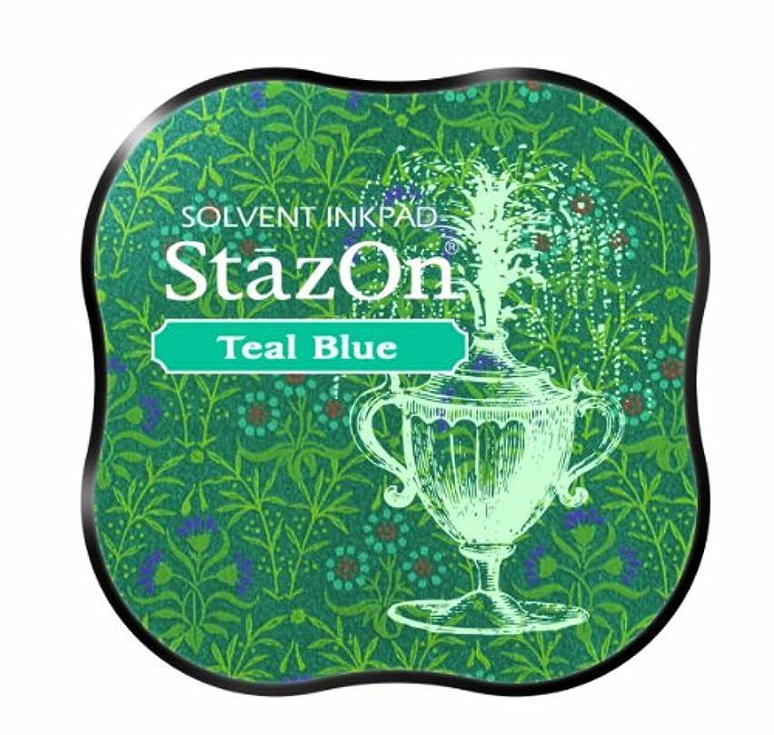 Tsukineko StazOn Midi Pad, Teal Blue