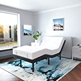 SNODE Adjustable Bed Base Frame (Twin XL Size) - Smart Electric Bed Base with Backlit Wireless Remote Control, Adjustable Head and Foot Incline, USB Ports, Adjustable Leg Heights, Easy Assembly