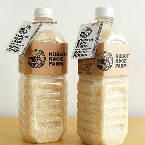 新潟県産コシヒカリ 精米 ペットボトル 12合×2本(3.6kg) 窪田梨果園