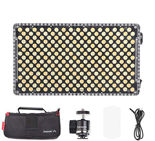 Aputure Amaran AL-F7 Lámpara de luz de Video portátil con luz led de Video Bicolor Regulable de 256 Leds 3200-9500K CRI95 + (versión actualizada de Aputure Al-H198)