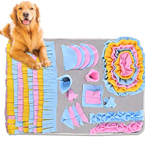 Nabance Snuffle Mat para Perros, Alfombra Olfato Perro Mat, Alfombra olfativa de Actividades para Mascotas fomenta Las Habilidades Naturales de forrajeo Colchonetas para Resbalar