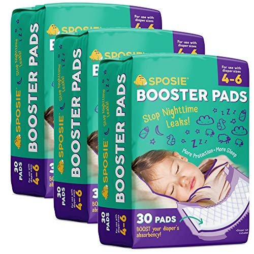 Sposie Booster Pads Diaper Doubler, 90 Count, 3 Packs of 30 Pads, No Adhesive...