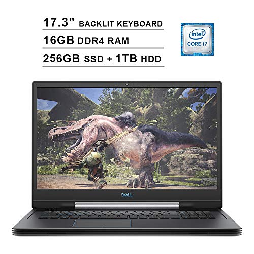 Dell G7 7790 17.3 Inch FHD 1080p 144Hz Gaming Laptop (9th Gen Intel 6-Core i7-9750H up to 4.50 GHz, 16GB DDR4 RAM, 256GB SSD (Boot) + 1TB HDD, NVIDIA GeForce RTX 2070 8GB, Backlit KB, Windows 10)