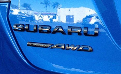 Subaru Genuine Subaru OEM Limited Black Trunk Gate SUBARU SYMMETRICAL AWD Emblem 93079VA180 sti limited