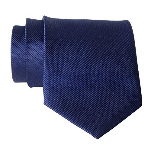 QBSM Mens Ties Navy Blue Solid Color Formal Dress Suit Neckties Neck Tie