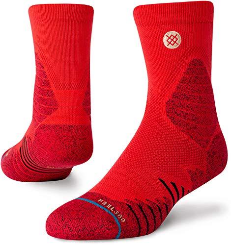 Stance Herren Quarter ICON Hoops QTR Socken, rot, Large