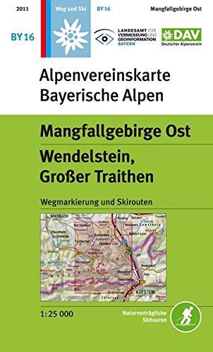 Mangfallgebirge Ost, Wendelstein, Großer Traithen: Wegmarkierung, Ski- und Schneeschuhrouten (Alpenvereinskarten)