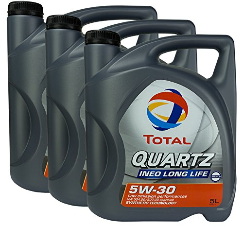 3x motorolie Total Quartz Ineo Long Life 5W-30 5L