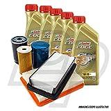 Kit tagliando auto, kit quattro filtri e 5 litri olio motore Castrol Edge 5W30 (PR4594/19)