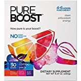Pureboost Clean Energy Drink Mix. No Sugar, No Sucralose. Healthy Energy Loaded with B12,...