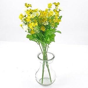 Barley33 Ramo de Margaritas Artificiales Seda Flor Falsa Hortensia Flor de Toque Real para Decoración de Boda Nupcial