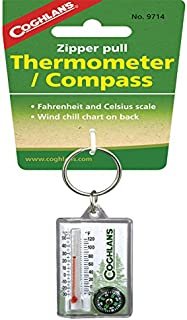 Coghlans 9714 Zipper Pull Thermometer with Compass