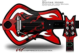 Oriental Dragon Black on Red Decal Style Skin - fits Warriors Of Rock Guitar Hero Guitar (GUITAR NOT INCLUDED)
