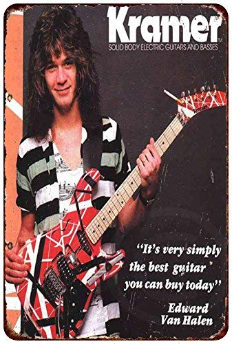 cwb2jcwb2jcwb2j Kramer Elektrische gitaren Edward Van Halen reproductie metalen bord 8 x 12